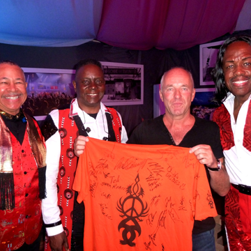 myRockworld meets Ralph Johnson, Philip Bailey and Verdine White, the co-founders of Earth Wind and Fire in Munich 10.7.2018