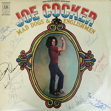 myRockworld memorabilia: Joe Cocker - Mad Dogs and Englishmen, 1970 LP, very rare, belonged to the legendary Larry Tent, Music fotographer and Journalist from Houston