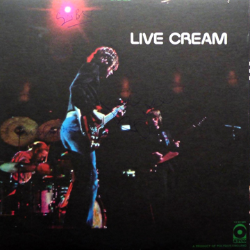 myRockworld memorabilia: Cream, Album LIVE CREAM, 1970, ultra rare, Vintage signed by Ginger Baker, Eric Clapton and Jack Bruce R.I.P Special thanks to Don Pete