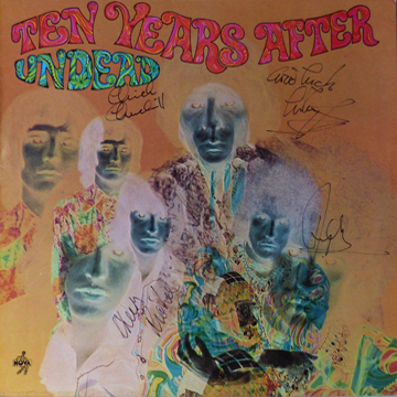 myRockworld memorabilia - Ten Years After - Album Undead - 1968 - personally signed by Alvin Lee R.I.P., Chick Churchill, Ric Lee and Leo Lyons